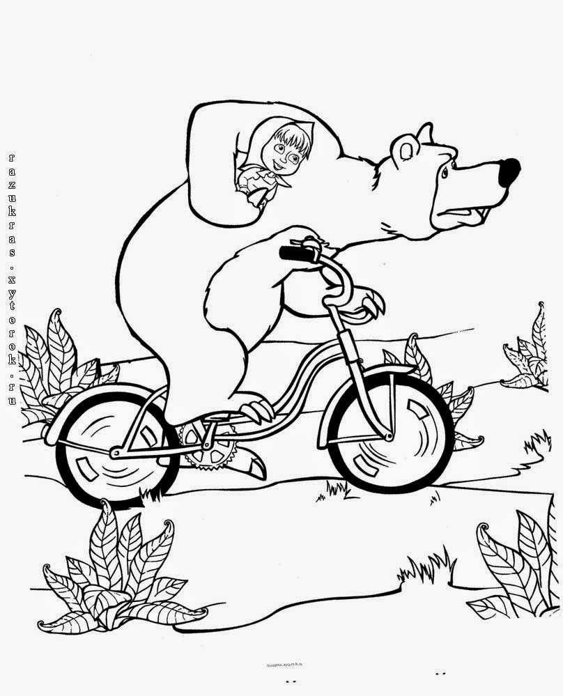 Masha e orso benvenuti su ilpulcinobirichino for Disegni da colorare masha e orso